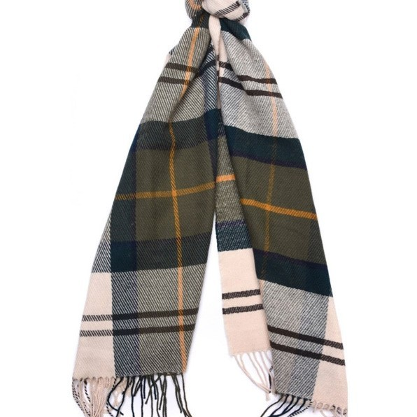 898115bebcb Barbour Ladies Tartan Lambswool Scarf - Ancient