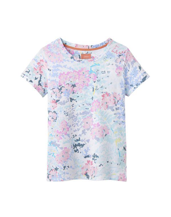222ca9424b80dd Joules Nessa Print Lightweight Jersey T-Shirt - White Surf Floral ...