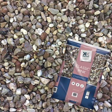 Kelkay Classic Pink 12-16mm Sharp Pinkish Stone Large Pack