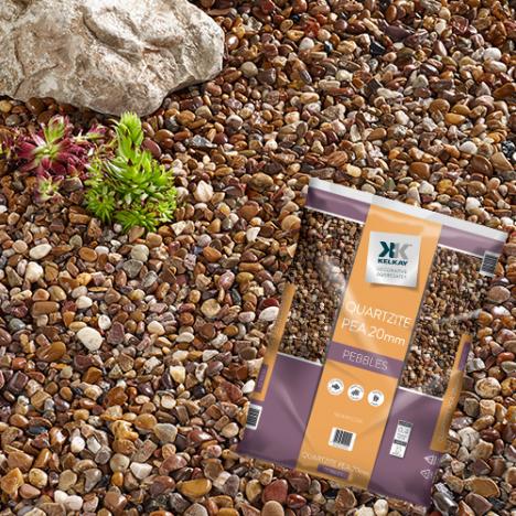 Kelkay Premium Quartzite 20mm Pea Gravel Large Pack