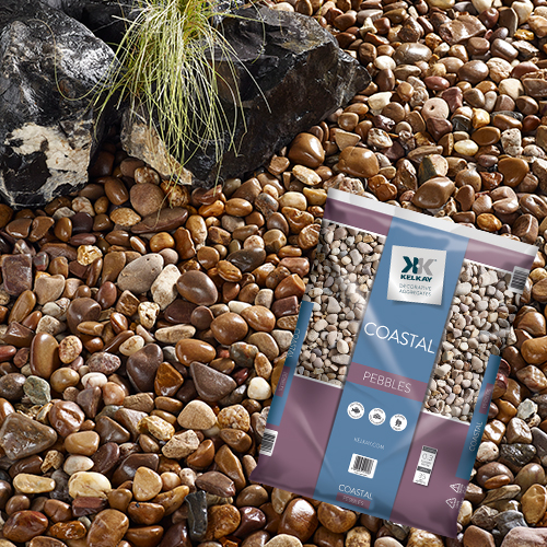 Kelkay 20-45mm Light/Dark Brown Quartzite Stone Coastal Pebbles Large Pack