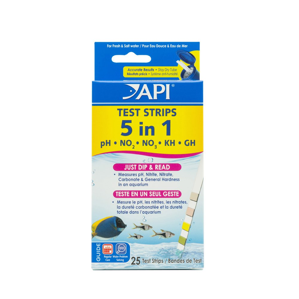 API 5 in 1 Aquarium Test Strips 4pk
