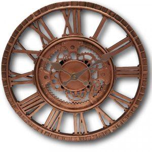 """Smart Garden Newby Mechanical Wall Clock- Bronze 12"""""""
