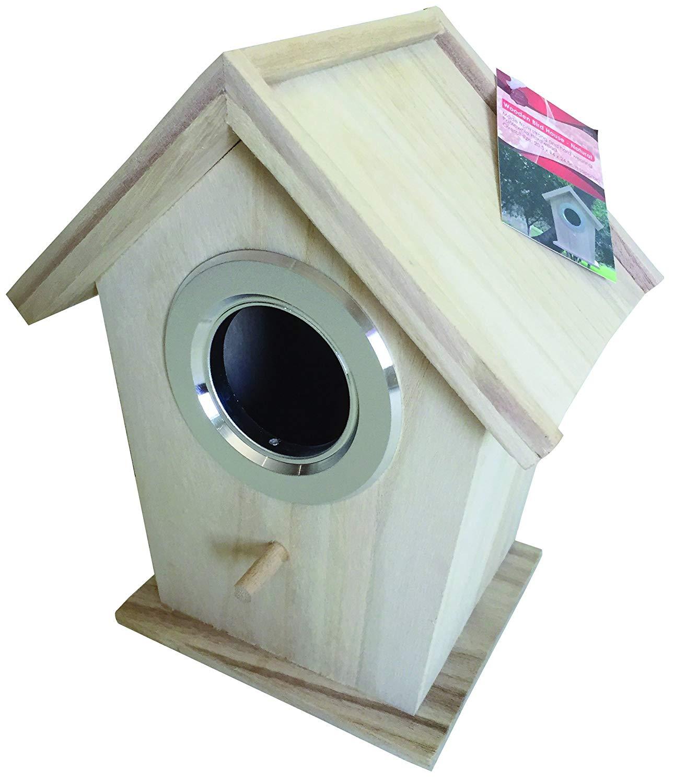 Wooden Bird House - Natural