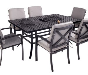 Jamie Oliver 6 Seat Feastable Set - Riven Pewter