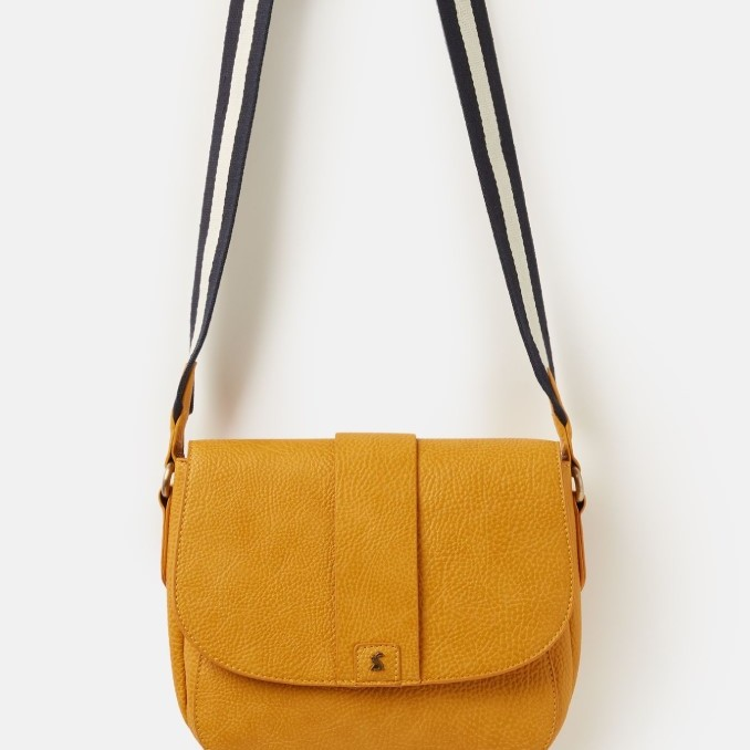 Joules Ladies Bridport Bright Pu Saddle Cross Body - Antique Gold
