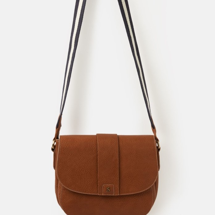 Joules Ladies Bridport Bright Pu Saddle Cross Body - Tan