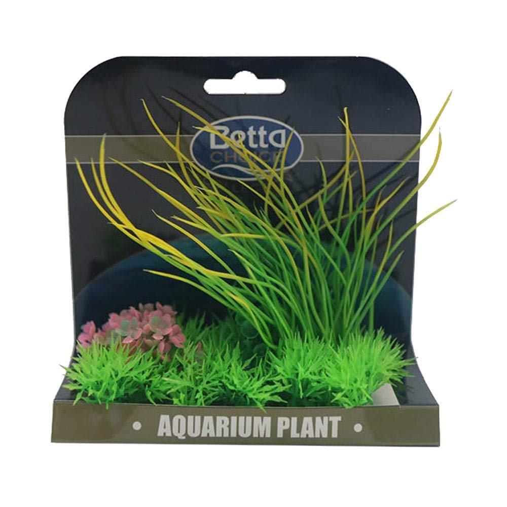 Betta Choice Med Plant Mat -Green,Yellow&Pink