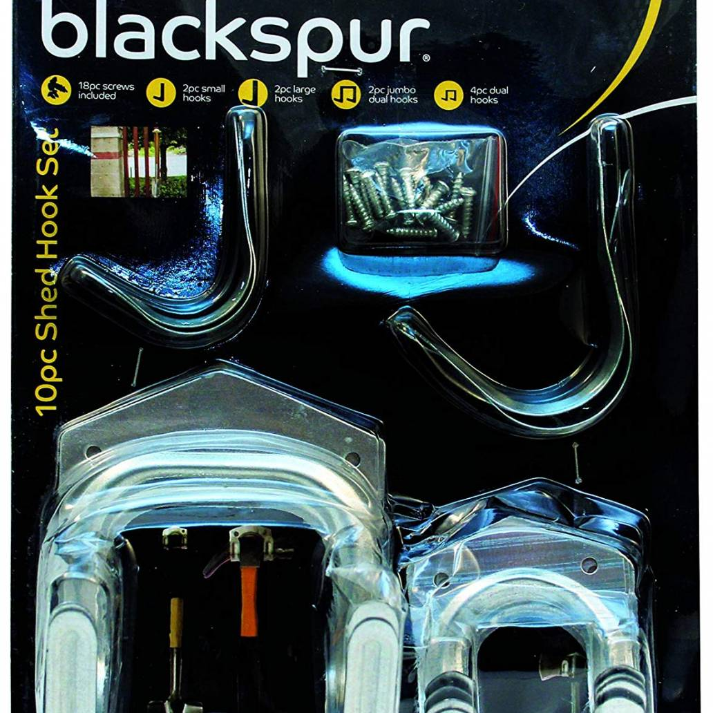 Blackspur 10pc Shed Hook Set (HA117)