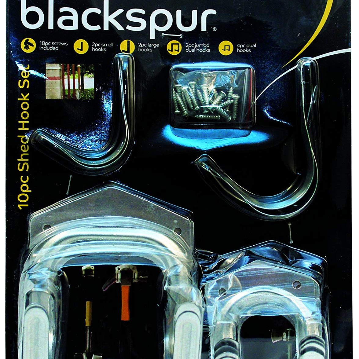 Blackspur 10pc Shed Hook Set (HA117)