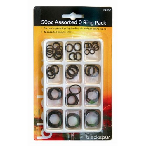 Blackspur 50pc Assorted O Ring Pack (OR200)