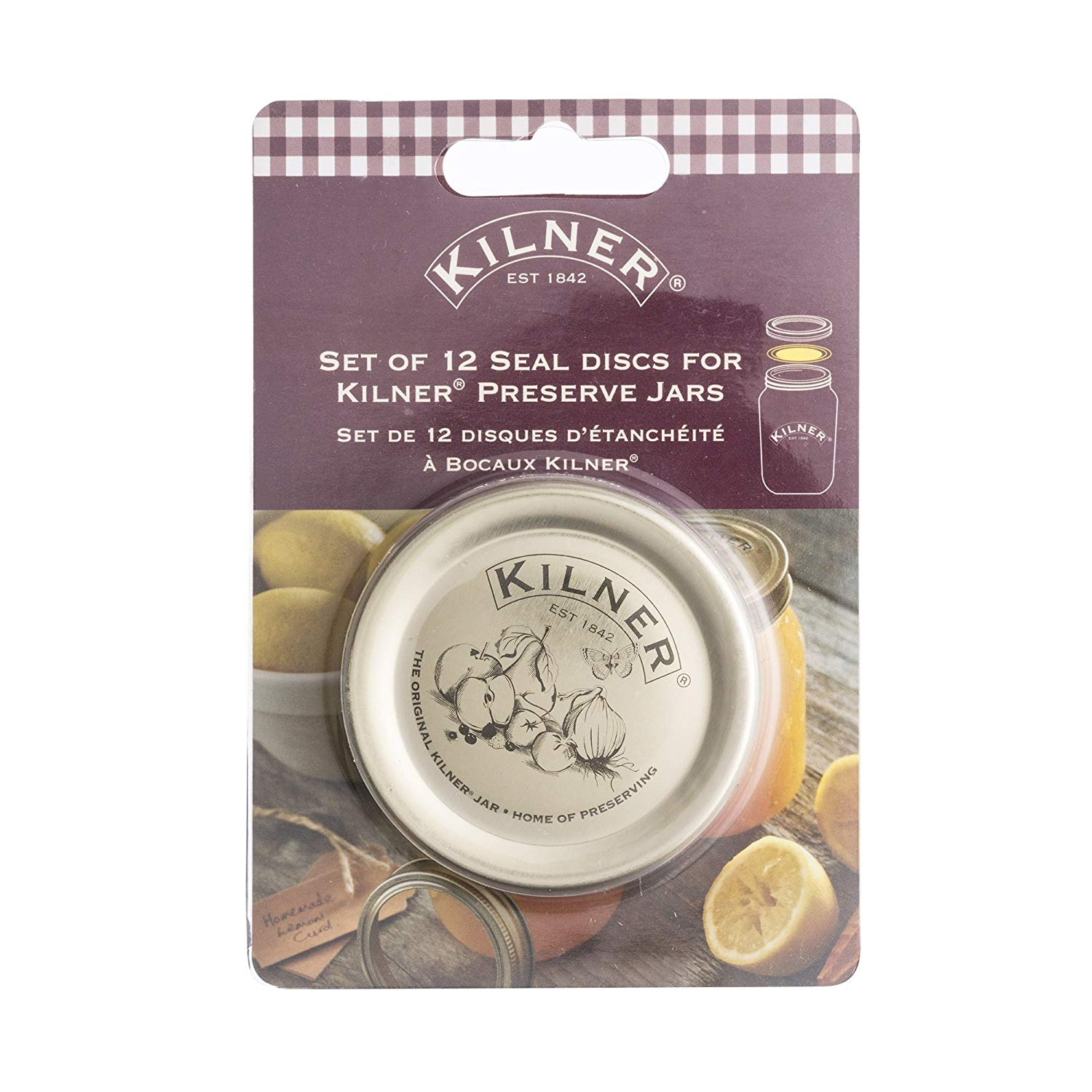Kilner Preserve Jar Lid Replacement Seals 12pk