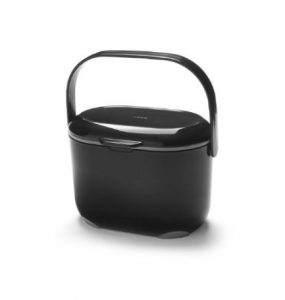 Addis Kitchen Compost Caddy Black & Metallic 2.5 ltr