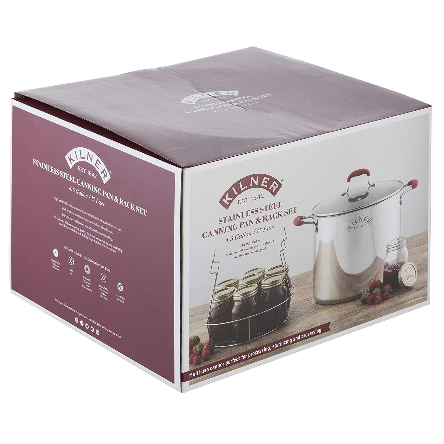 Kilner Canning Pan And Rack Set