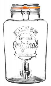 Kilner Clip Top Round Drinks Dispenser 8Lt