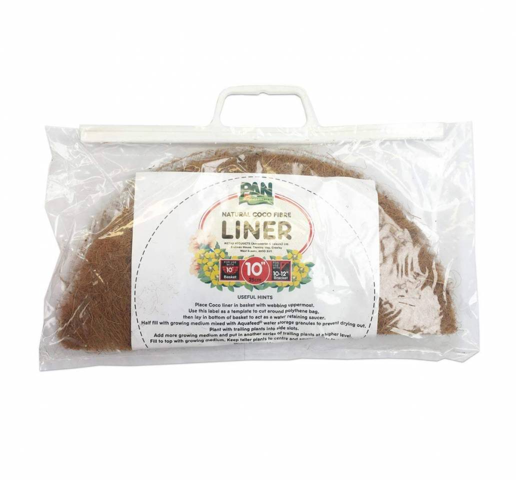 Pan Gardening Natural Coco Fibre Liner 10 in