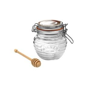 Kilner Clip Top Honey Pot With Dipper 0.4 ltr