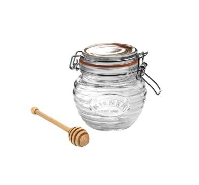 Kilner Clip Top Honey Pot With Dipper 0.4 ltr
