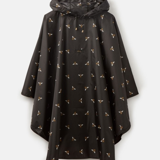 Joules Poncho Rain Cover Up - Black Bee