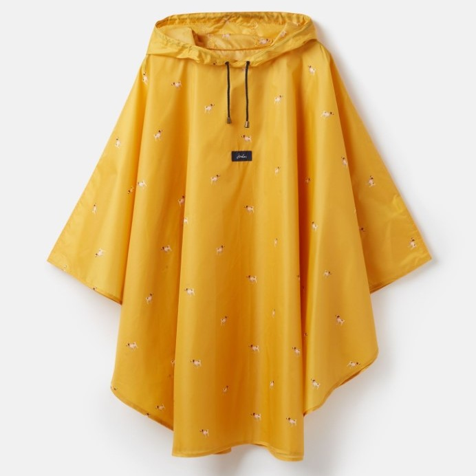 Joules Poncho Rain Cover Up - Gold Dogs