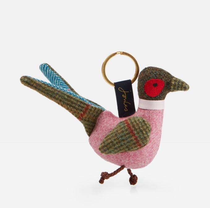 Joules Tweedle Keyring - Pheasant