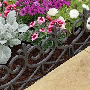 Smart Garden 4 x Scroll Decorative Fence Path Border Lawn Plant Beds Edging