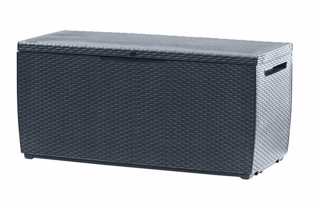 Keter Capri 305L Rattan Style Box - Anthractie