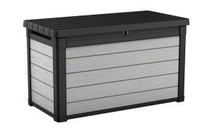 Keter Denali 100 - 380L Duotech Deck Box - Black/Grey