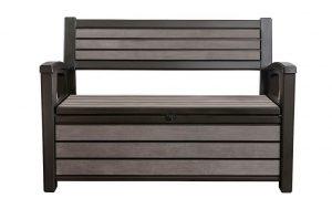 Keter Hudson 227L Panel Storage Bench - Espresso