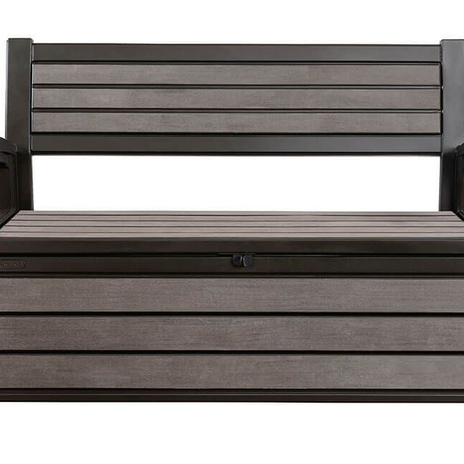 Keter Hudson 227L Panel Storage Bench - Espresso