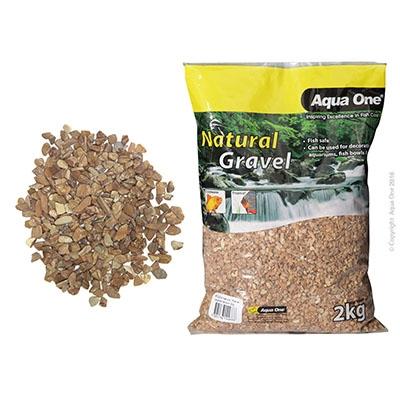Aqua One Layered Brown Gravel - 2kg