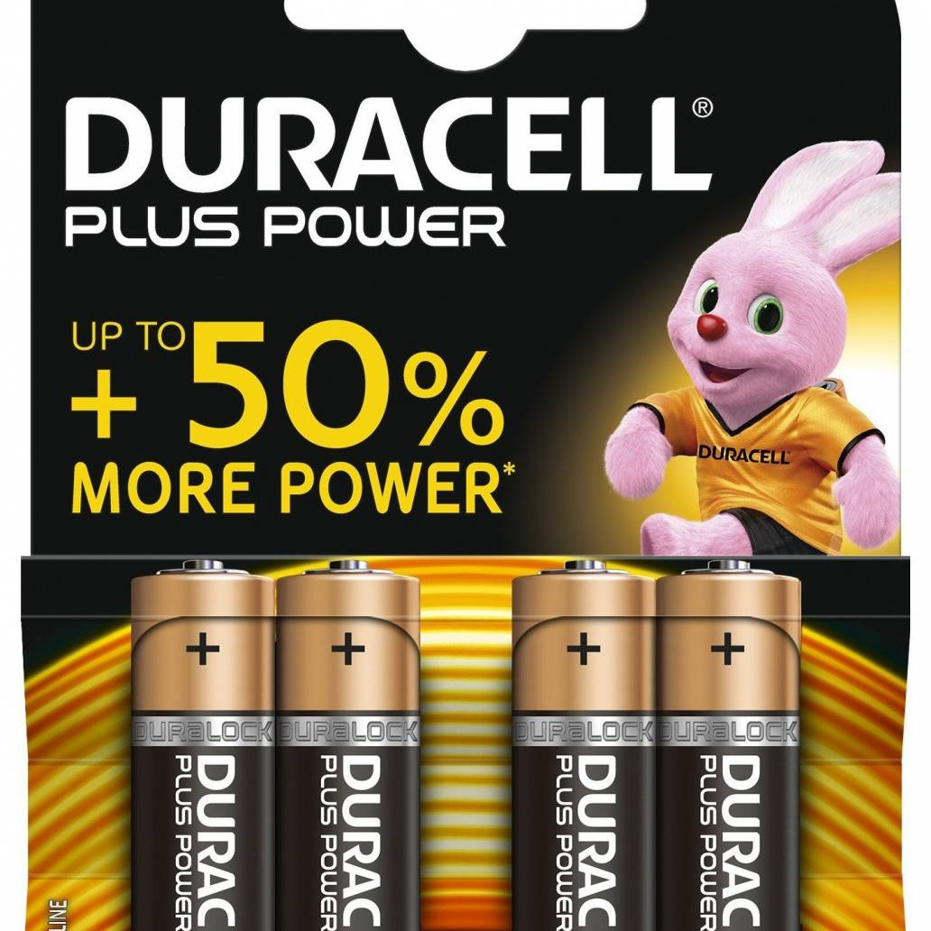 Duracell AA 4Pk Batteries - Plus Power