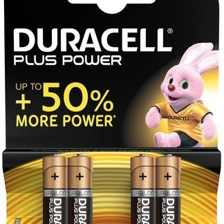 Duracell AAA 4Pk Batteries - Plus Power