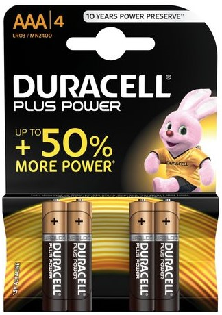 Duracell AAA 4Pk Batteries - Plus Power