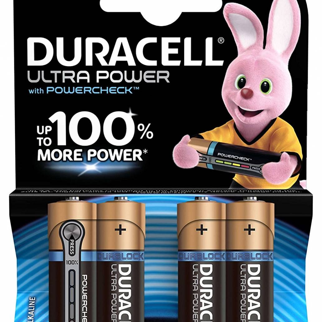 Duracell AA 4Pk Batteries - Ultra Power