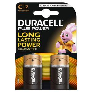 Duracell C 2Pk Batteries - Plus Power
