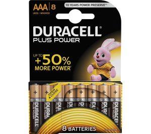 Duracell AAA 8Pk Batteries - Plus Power
