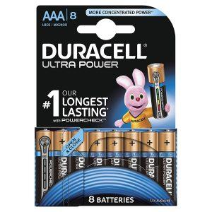 Duracell AAA 8Pk Batteries - Ultra Power