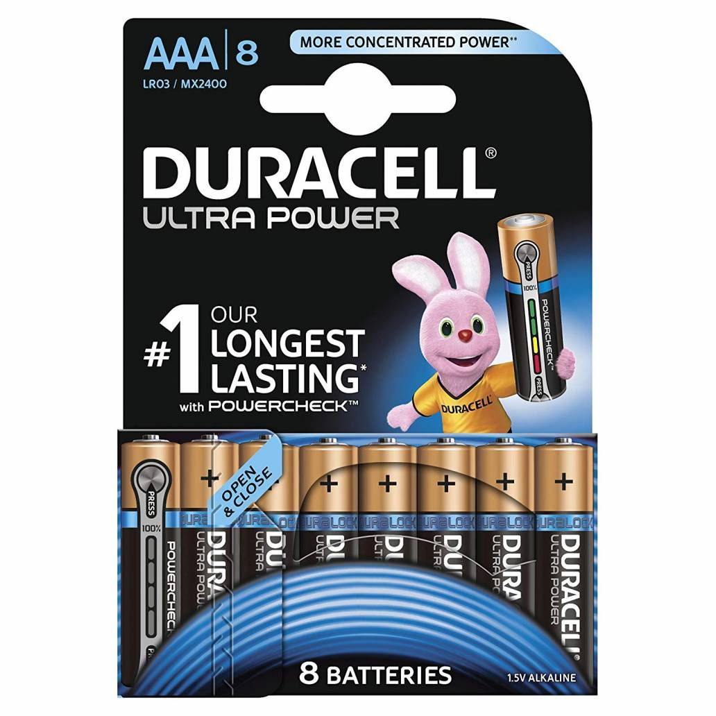 Duracell AAA 8Pk Batteries - Ultra Power
