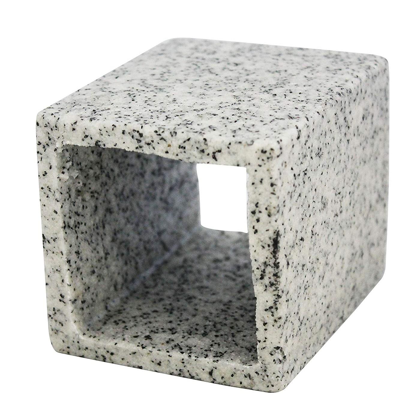 Aqua One Cave Square (M) 8X8X10cm Marble