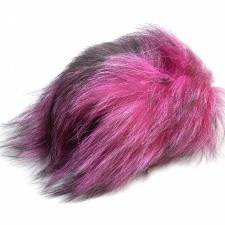 Foxy Tails Fly Tying - Finn Raccoon Tail Hair - Red