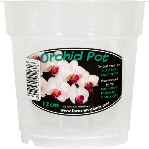 Growth Technology Clear Orchid Pot 12 cm