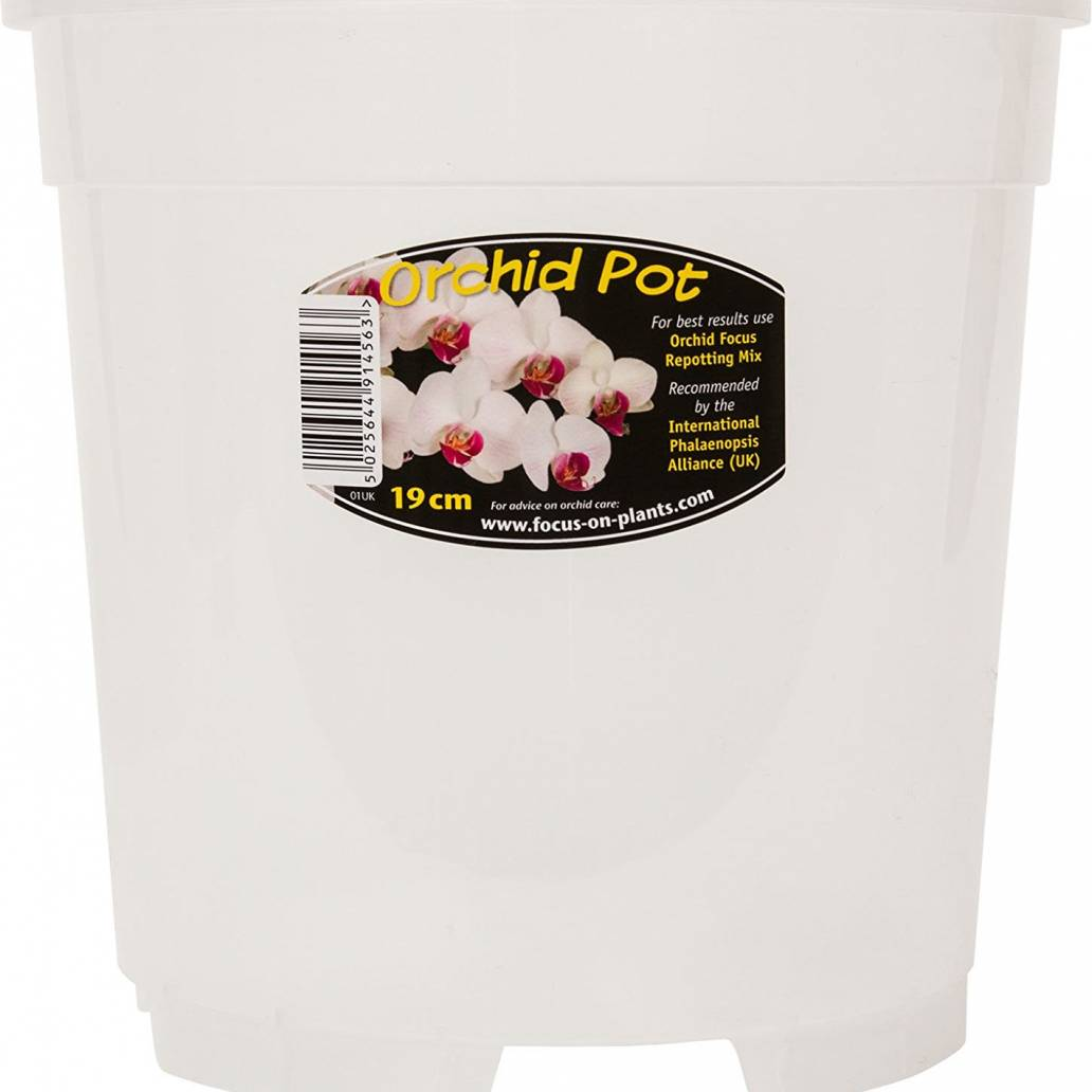 Growth Technology Clear Orchid Pot 19 cm