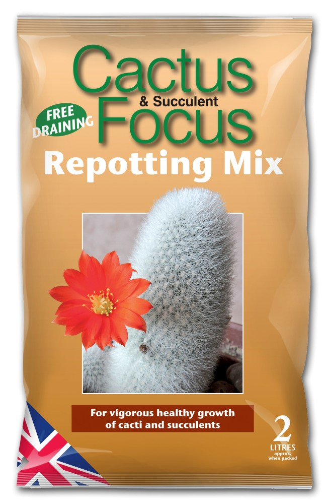 Growth Technology Cactus & Succulent Focus Repotting Mix Bag - 2 Litres