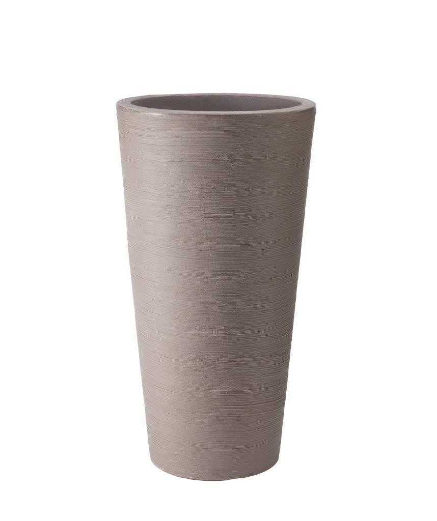 Stewart 40cm Varese Tall Vase D.Brown Dark Brown