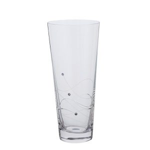 Dartington Crystal Glitz Medium Conical Vase