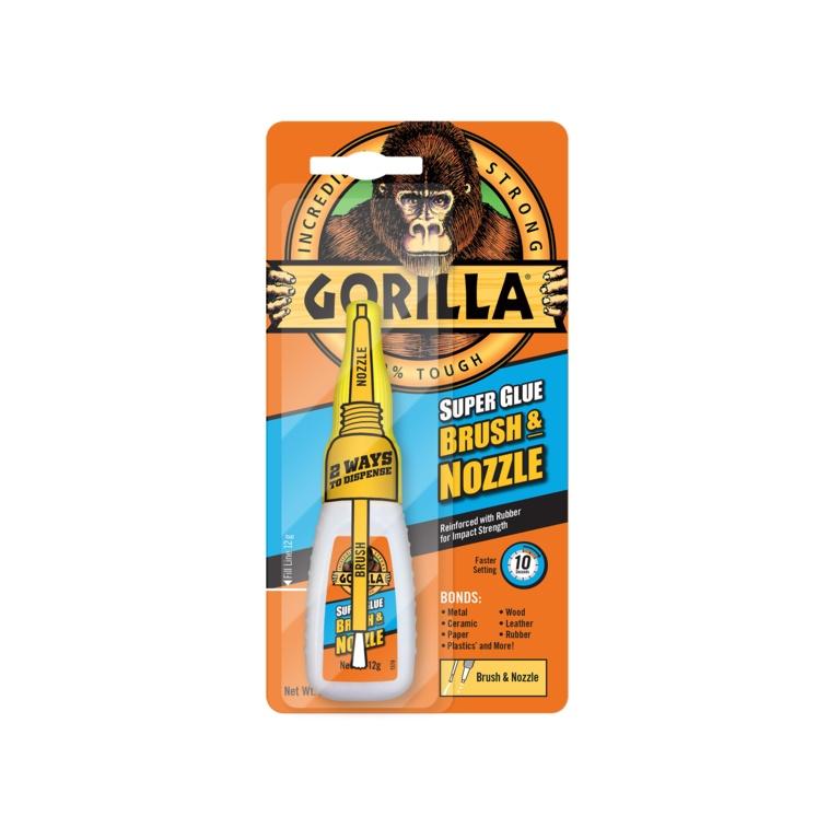 Gorilla Super Glue Brush & Nozzle 12gm