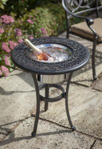 Amalfi 54cm Round Bistro Table & Ice Bucket - Bronze