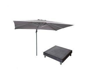 Falcon T1 3mx2m Ivory Parasol w/ 90kg Granite Base