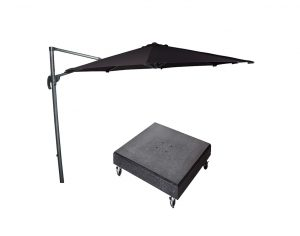 Falcon T1 3m Round Anthracite Parasol w/ 90kg Granite Base